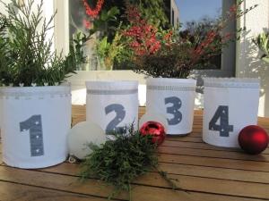 Adventlichter 1-4 , Dekoratin, Advent, Windlicht