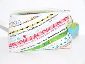 Schminktäschchen  Dua Patchwork Täschchen aus Nahtbändern handgemacht