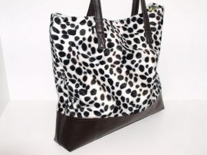 Tasche Dalmatiner Shopper Tragetasche aus Kunstfell handgemacht