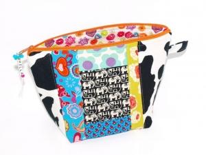 Kosmetiktasche Holla Universaltasche, Handgemacht aus Baumwollstoff