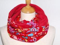 Schlauchschal Rotrot Rundschal, Circleschal, aus Baumwolle und Fleece
