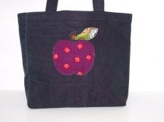 Jeans Shopper Apfelglück , upcycling Jeanstasche, Einkaufstasche