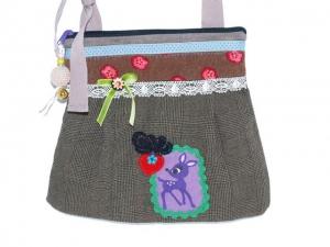 Umhängetasche  Reh kleine Trachtentasche, Dirndl Tasche handgemacht