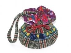 Tasche Wulli  Beutel aus Wollstoffen handgemacht Boho Style