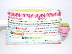 Kosmetiktasche Una Schminktäschchen aus Baumwoll Nahtbändern