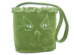 Tasche Forest handgemachte Motivtasche aus Velourstoff
