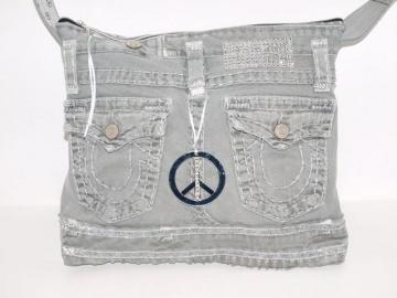 RESERVIERT FÜR S.   Jeanstasche Glitzer upcycling Tasche handgemacht