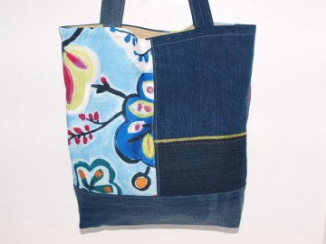 Jeans Shopper Blue Upcycling Tragetasche, Markttasche handgemacht