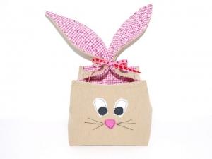Osternest Hase Langohr, Nest Ostern, Utensilo für den Osterhasen, handgemacht aus Baumwolle