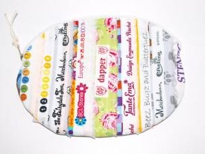 Täschchen Sweety, Kosmetiktäschchen, Universaltäschchen handgemacht aus Webbändern