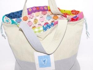 Shopper Wendy Wendetasche upcycling, Einkaufstasche,Tragetasche, Projekttasche handgemacht