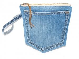 Hosentasche Etui Jeans Mäppchen upcycling Universaltäschchen handgemacht