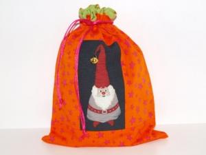 Geschenkbeutel Wichtl 1 Weihnachtsbeutel  Zugbeutel Beutelchen Geldgeschenk handgemacht aus Stoff