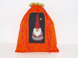 Geschenkbeutel Wichtl 2 Weihnachtsbeutel  Zugbeutel Beutelchen Geldgeschenk handgemacht aus Stoff