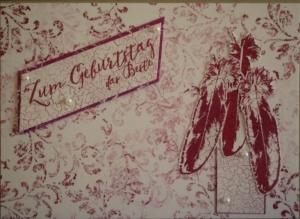 Handgefertigte, romantische Grußkarte für die beste Freundin - Handarbeit kaufen