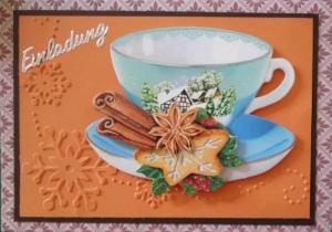 Selbstgemachte Einladungskarte zum Kaffee ode Tee. - Handarbeit kaufen