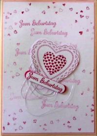 Süsse, selbstgemachte Glückwunschkarte zum Geburtstag - Handarbeit kaufen