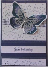 Ein handgemachter Schmetterling gratuliert zum Geburtstag - Handarbeit kaufen