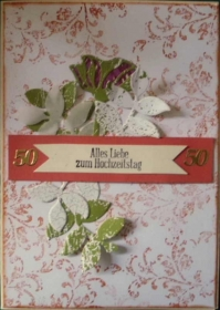 Handgemachte Karte zur goldenen Hochzeit - Handarbeit kaufen