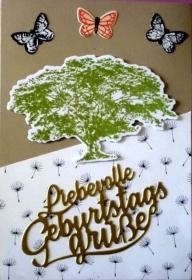 Selbstgestaltete Geburtstagskarte in Form einer Aufstellkarte  - Handarbeit kaufen