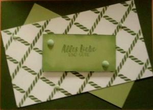 Handgemachte Geburtstagskarte in Grüntönen - Handarbeit kaufen