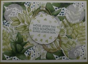 Selbstgemachte Hochzeitskarte in floralem Design - Handarbeit kaufen