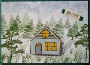 Hübsche Karte zum Einzug in ein Haus in ländlicher Gegend - Handarbeit kaufen