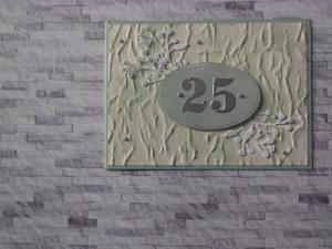 Selbstgestaltet Glückwunschkarte zum 25. (Geburtstag, Jubiläum, Kennenlerne etc) - Handarbeit kaufen