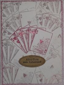 Selbstgestaltete Karte zum Ruhestand - Zeit zum Kartenspielen - Handarbeit kaufen