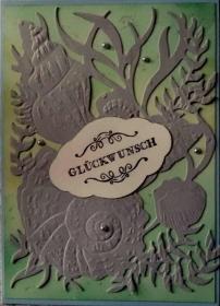 Selbstgestaltete Glückwunschkarte, für diverse Anlässe zu nutzen, ideal für einen Angler oder jmd.. der ein Aquarium hat. - Handarbeit kaufen
