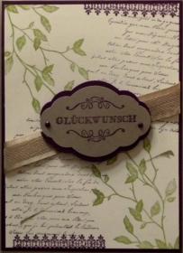 Hübsche, selbstgestaltete Karte im Vintage-Stil - Handarbeit kaufen