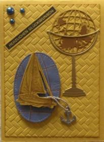 Liebevoll gestaltete Glückwunschkarte für diverse Anlässe nutzbar - Handarbeit kaufen