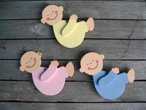 Baby (Ersatz) für Storch (60cm aufgebaut) - Farbe nach Wunsch