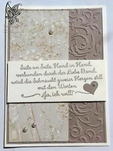Hochzeitskarte mit Prägung