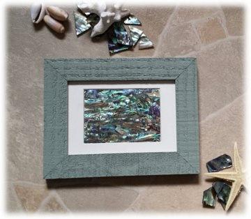 Abalone Paua Muschel (See-Opal) Bild - Shabby grün  - Handarbeit kaufen