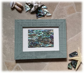 Abalone Paua Muschel (See-Opal) Bild - Shabby grün