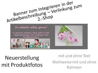 Dein Banner ☆ Banner für Verlinkung☆ von mir zu dir ☆ mit Produktfotos oder Grafiken und Text
