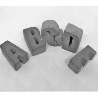 Alphabet ☆ aus Beton☆  zum Bemalen  ☆   Rohlinge