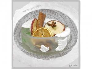 dekorative Schale ☆ aus Gips und Kunstharz