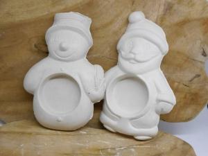 Teelichthalter weihnachten  Set ☆ aus Gips ☆ Rohling zum Bemalen 2Stück