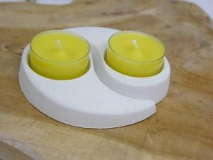 Teelichthalter Yin und Yang  Set ☆ aus Gips ☆ Rohling zum Bemalen