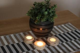Teelicht Rund ♥ Handgefertigter ♥ Teelichthalter ideale als Tischdeko für Hochzeiten, Geburtstage, Weihnachtsdeko