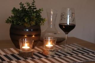 Teelicht Rund mit Teelichtglas ♥ Handgefertigter ♥ Teelichthalter ideale als Tischdeko für Hochzeiten, Geburtstage, Weihnachtsdeko
