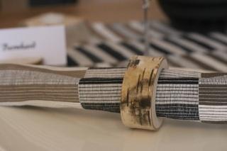Serviettenring aus einen Birken Holzstamm ♥ Ideal als Tischdeko ♥ Hochzeitsdeko ♥ Weihnachtsdeko