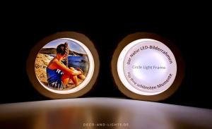 Circle Light Frame - Handgefertigter beleuchteter Bilderrahmen - LED Leuchte