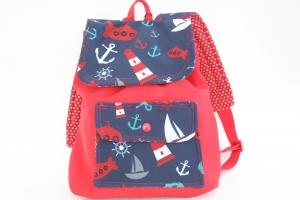 Softshell Kindergartenrucksack  3 verschiedene Motive, Sterne, Zauberwald,i, Maritim, Handmade mit Liebe zum Detail