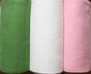 Bündchenstoff , Schlauchware, 0,50m, 3 verschiedene Farben zur Auswahl, rosa, wollweiß und grün