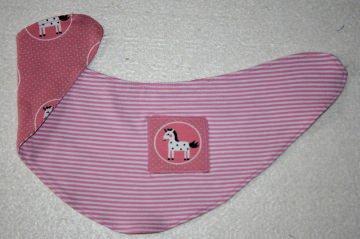 Niedliches Halstuch Einhorn, rosa, Wendehalstuch