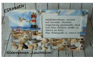Maritimer Bilderrahmen *LEUCHTTURM / SEEHUNDE*