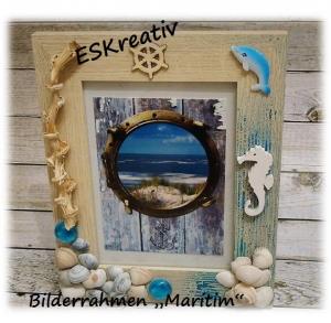 Maritimer Bilderrahmen *SEEPFERDCHEN*